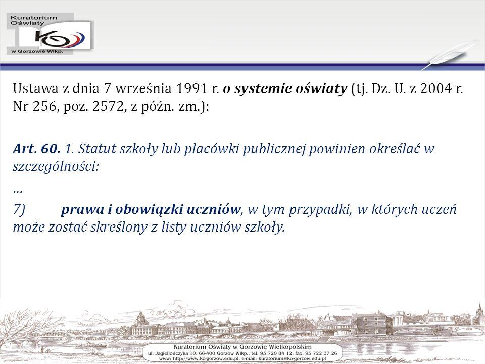 Ustawa z dnia 7 września 1991 r. o systemie oświaty (tj.