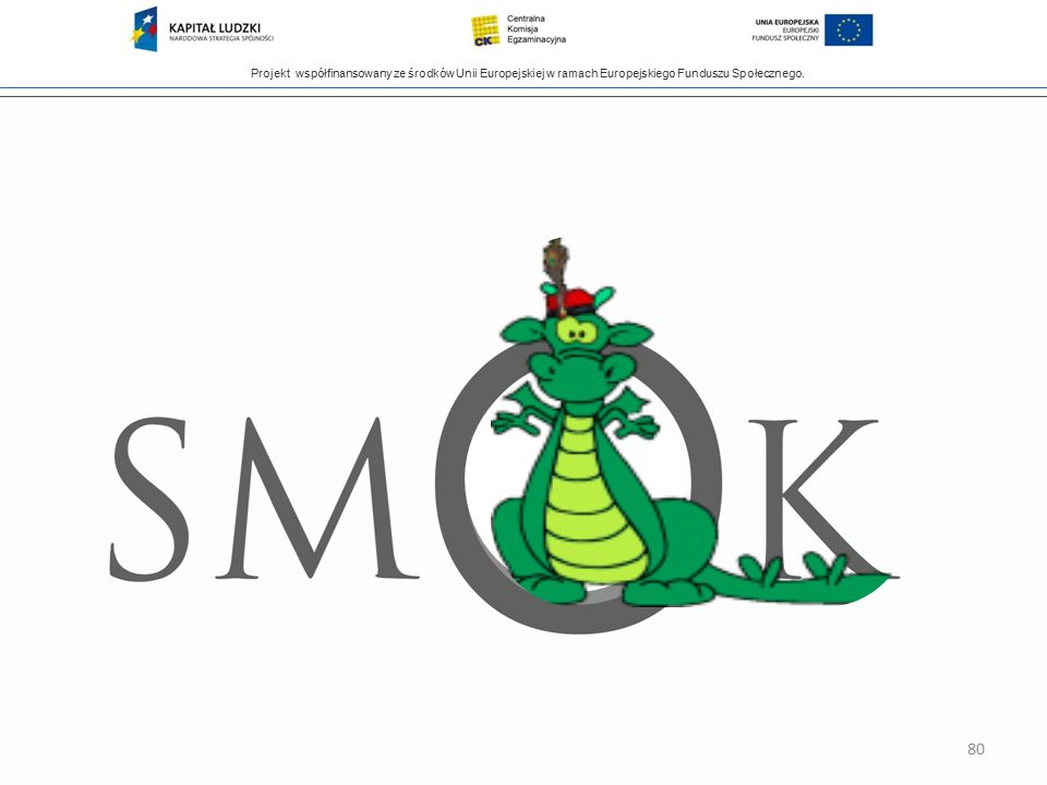Projekt współfinansowany ze środków Unii Europejskiej w ramach Europejskiego Funduszu Społecznego. 80
