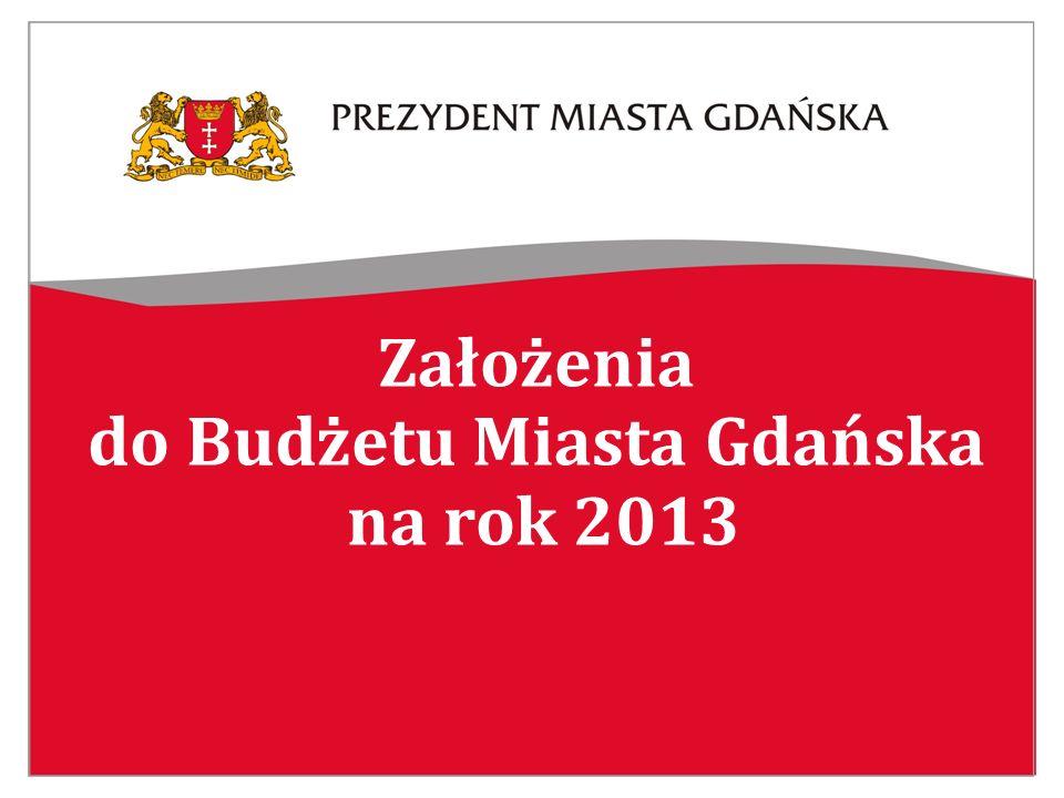 Założenia do Budżetu Miasta Gdańska na rok 2013