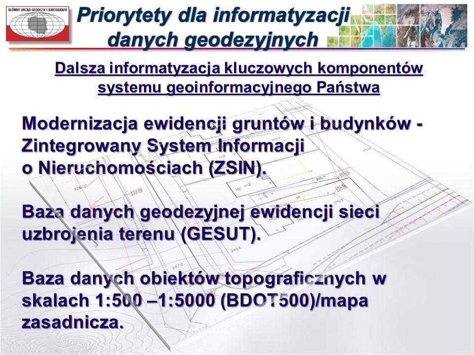 Dalsza informatyzacja kluczowych komponentów systemu geoinformacyjnego Państwa Modernizacja ewidencji gruntów i budynków - Zintegrowany System Informa