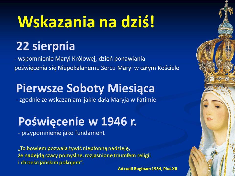 """22 sierpnia - wspomnienie Maryi Królowej; dzień ponawiania poświęcenia się Niepokalanemu Sercu Maryi w całym Kościele """"To bowiem pozwala żywić niepłon"""