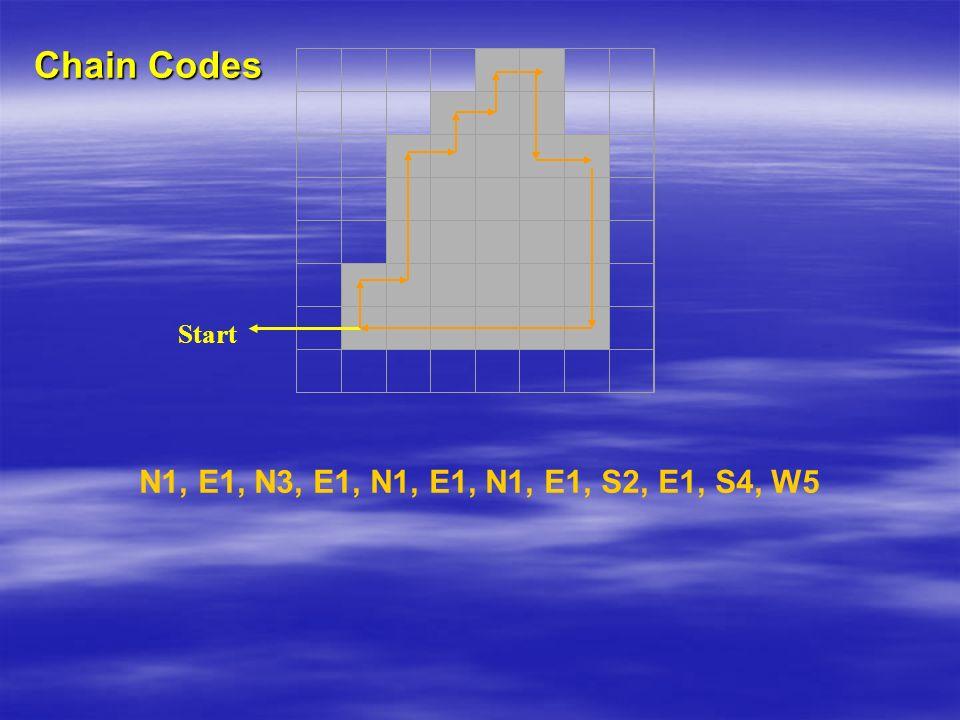 N1, E1, N3, E1, N1, E1, N1, E1, S2, E1, S4, W5 Chain Codes Start