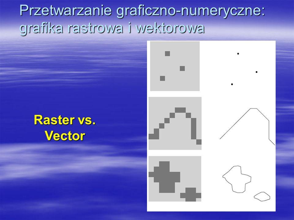 Przetwarzanie graficzno-numeryczne: grafika rastrowa i wektorowa Raster vs. Vector