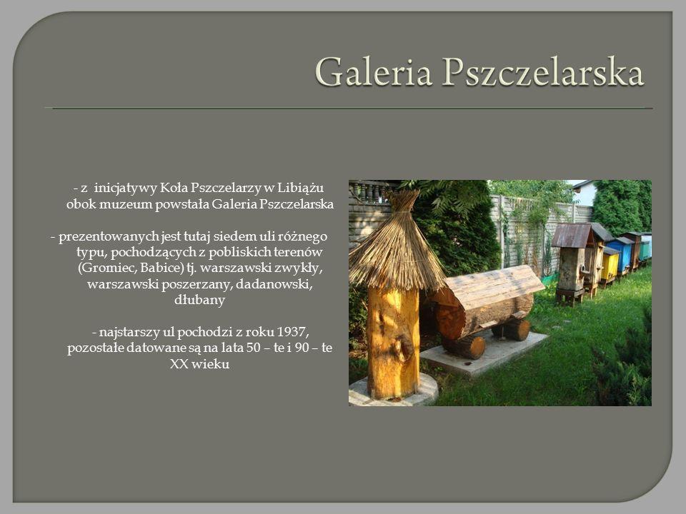 - z inicjatywy Koła Pszczelarzy w Libiążu obok muzeum powstała Galeria Pszczelarska - prezentowanych jest tutaj siedem uli różnego typu, pochodzących z pobliskich terenów (Gromiec, Babice) tj.