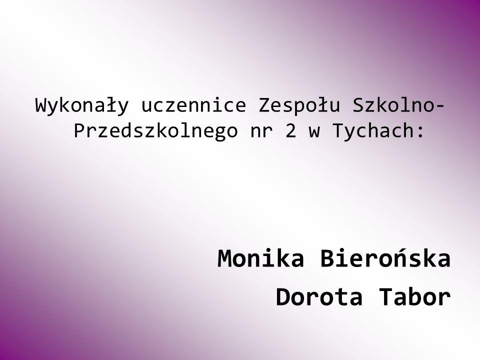 Wykonały uczennice Zespołu Szkolno- Przedszkolnego nr 2 w Tychach: Monika Bierońska Dorota Tabor