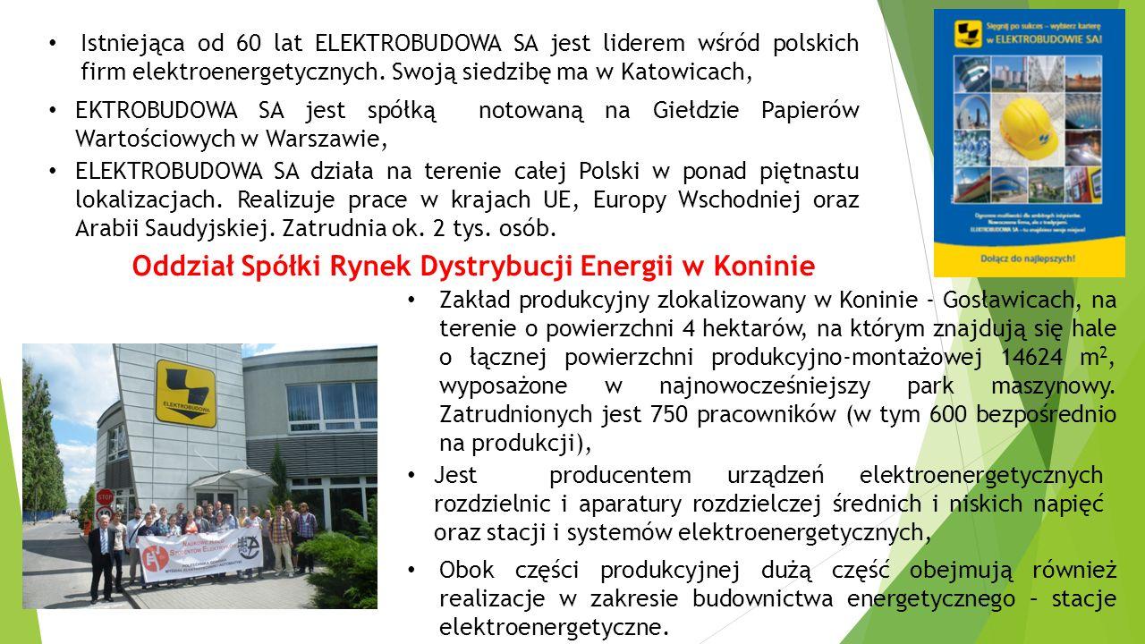 Istniejąca od 60 lat ELEKTROBUDOWA SA jest liderem wśród polskich firm elektroenergetycznych. Swoją siedzibę ma w Katowicach, EKTROBUDOWA SA jest spół