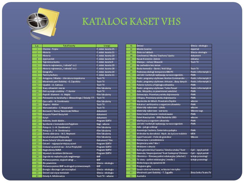 KATALOG KASET VHS