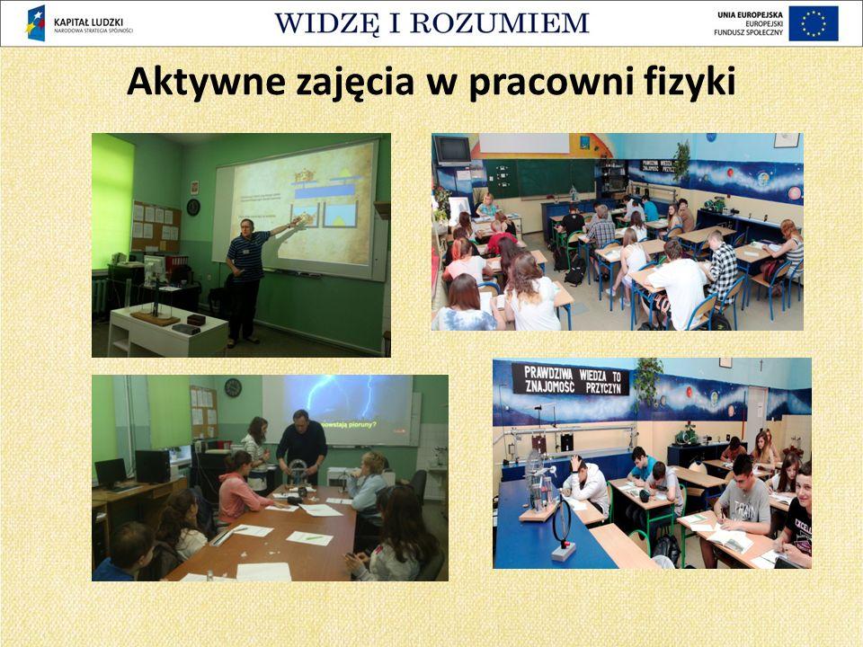 Aktywne zajęcia w pracowni fizyki