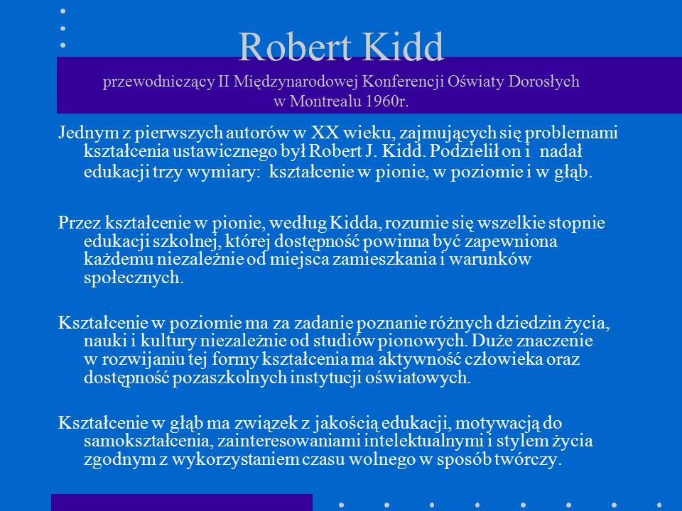 Robert Kidd przewodniczący II Międzynarodowej Konferencji Oświaty Dorosłych w Montrealu 1960r.