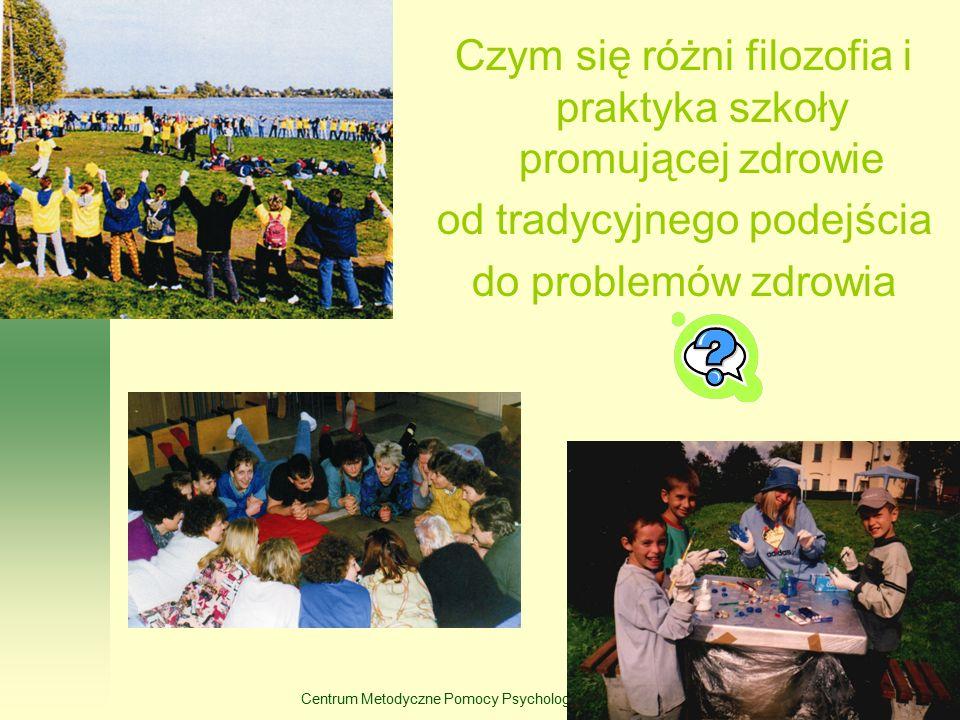 Centrum Metodyczne Pomocy Psychologiczno-Pedagogicznej Czym się różni filozofia i praktyka szkoły promującej zdrowie od tradycyjnego podejścia do prob