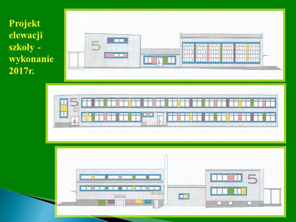 Projekt elewacji szkoły - wykonanie 2017r.