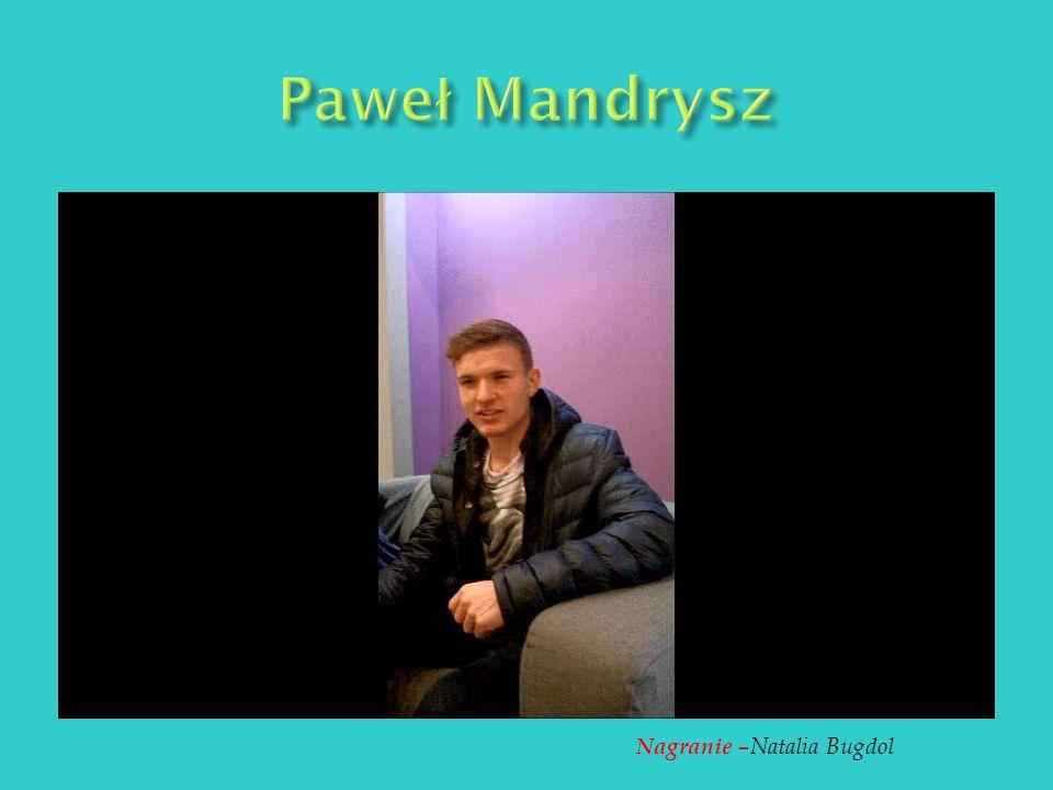Osobiste nagranie Krzysztofa