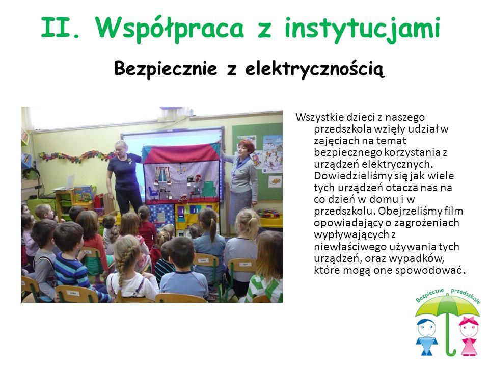 Wszystkie dzieci z naszego przedszkola wzięły udział w zajęciach na temat bezpiecznego korzystania z urządzeń elektrycznych. Dowiedzieliśmy się jak wi