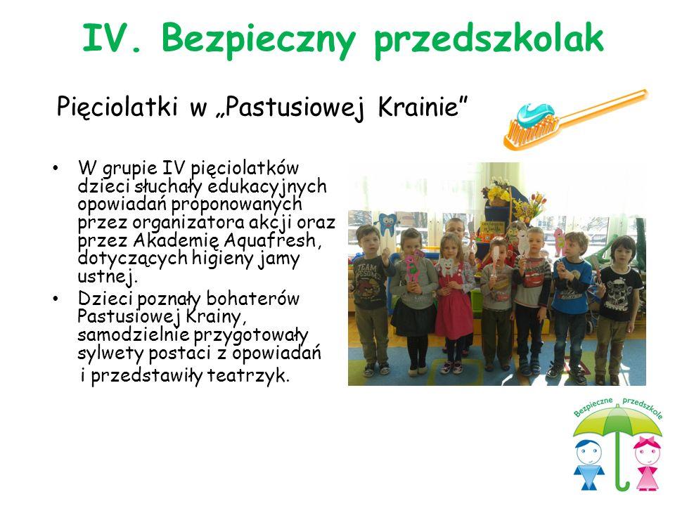 """Pięciolatki w """"Pastusiowej Krainie"""" W grupie IV pięciolatków dzieci słuchały edukacyjnych opowiadań proponowanych przez organizatora akcji oraz przez"""
