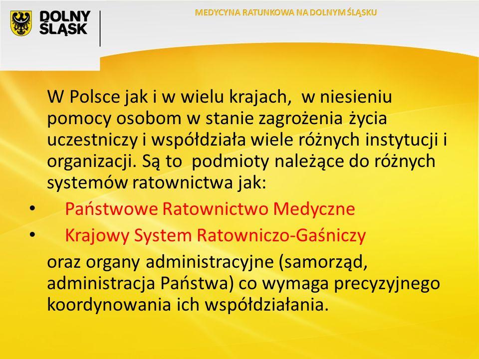 W Polsce jak i w wielu krajach, w niesieniu pomocy osobom w stanie zagrożenia życia uczestniczy i współdziała wiele różnych instytucji i organizacji.