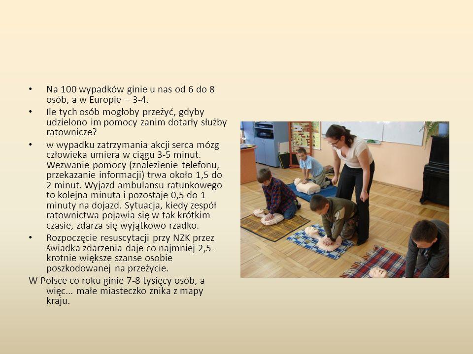 Piramida sukcesu ratowniczego Ratownictwo społeczne Kwalifikowana pierwsza pomoc Pomoc medyczna Łańcuch przeżycia: - platynowe minuty – pierwsza pomoc 4-5 min - złota godzina – kwalifikowana pomoc przed szpitalna i transport do 60 min - leczenie szpitalne
