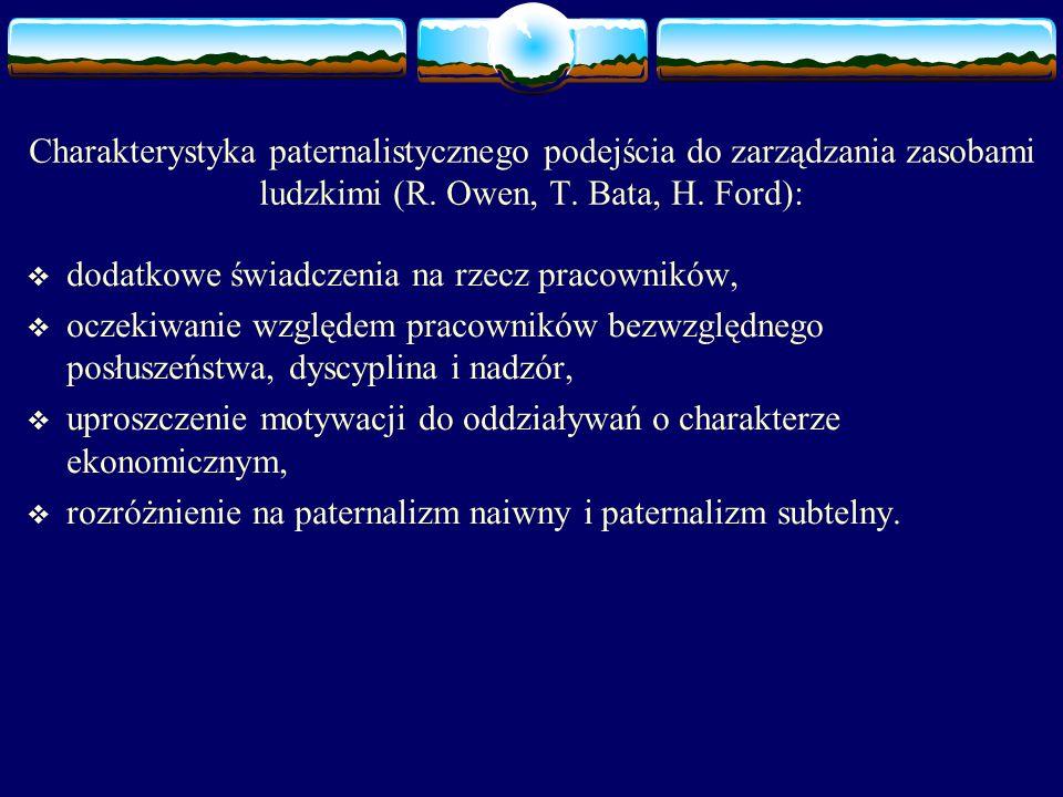 Charakterystyka paternalistycznego podejścia do zarządzania zasobami ludzkimi (R.