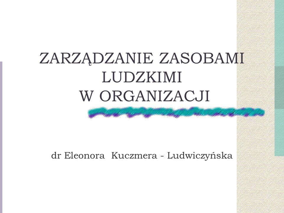 ZARZĄDZANIE ZASOBAMI LUDZKIMI W ORGANIZACJI dr Eleonora Kuczmera - Ludwiczyńska