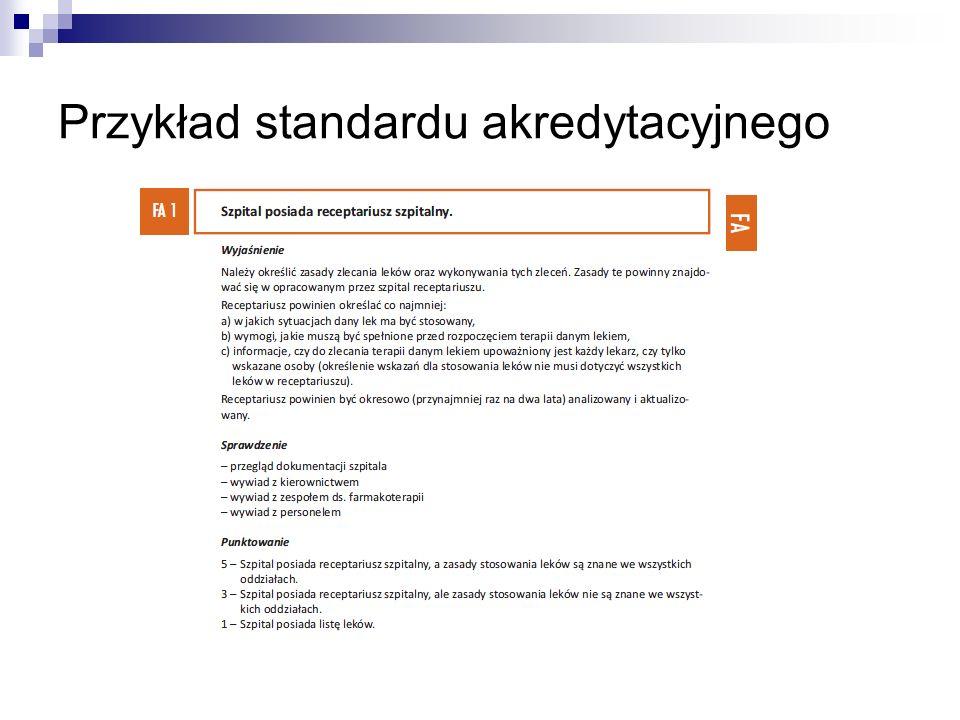 Przykład standardu akredytacyjnego