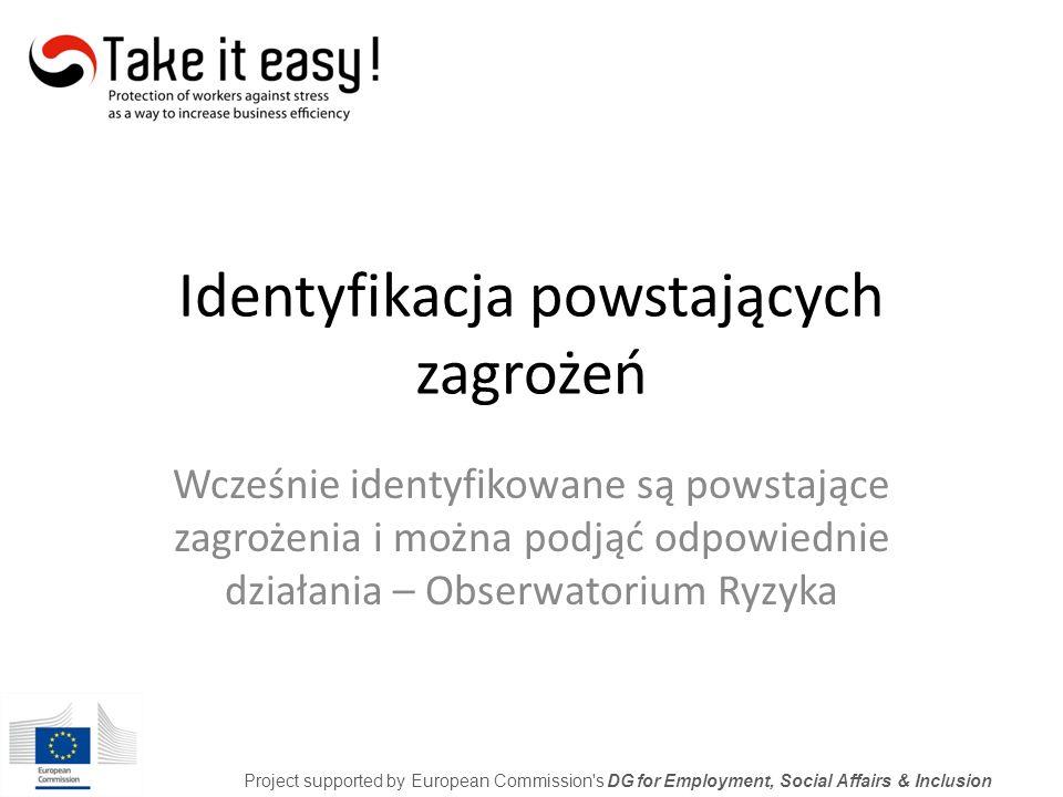 Tworzenie programów profilaktycznych Project supported by European Commission s DG for Employment, Social Affairs & Inclusion