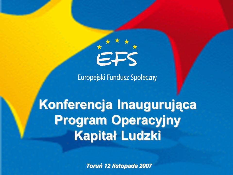 Konferencja Inaugurująca Program Operacyjny Kapitał Ludzki Toruń 12 listopada 2007