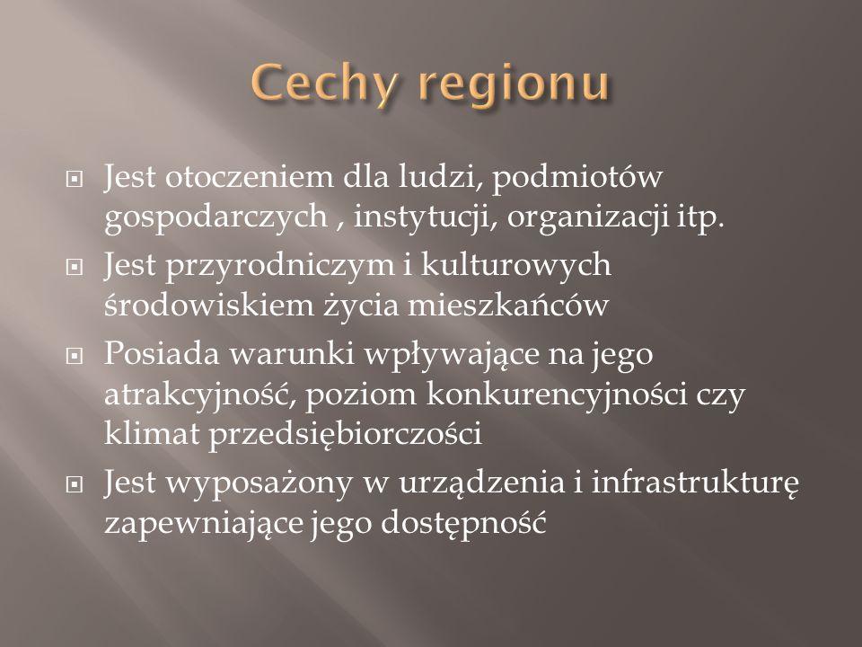 Jest otoczeniem dla ludzi, podmiotów gospodarczych, instytucji, organizacji itp.
