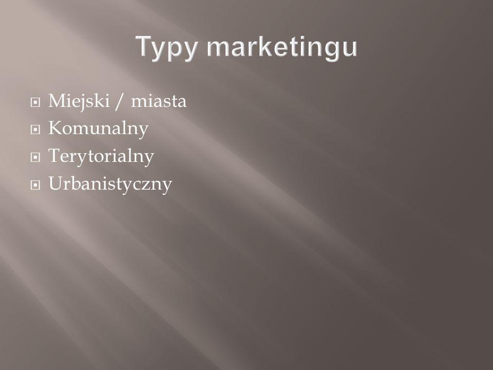  Miejski / miasta  Komunalny  Terytorialny  Urbanistyczny