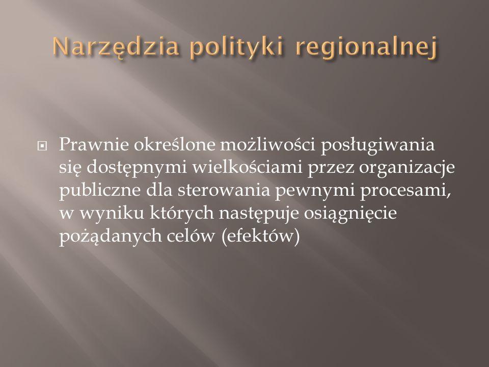  Prawnie określone możliwości posługiwania się dostępnymi wielkościami przez organizacje publiczne dla sterowania pewnymi procesami, w wyniku których następuje osiągnięcie pożądanych celów (efektów)