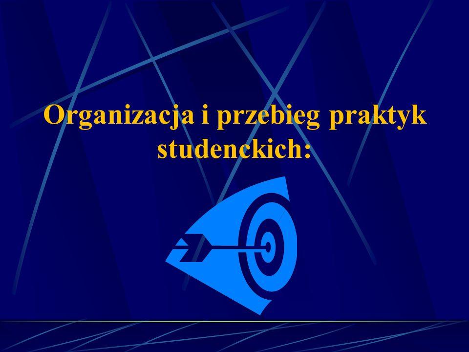 Organizacja i przebieg praktyk studenckich: