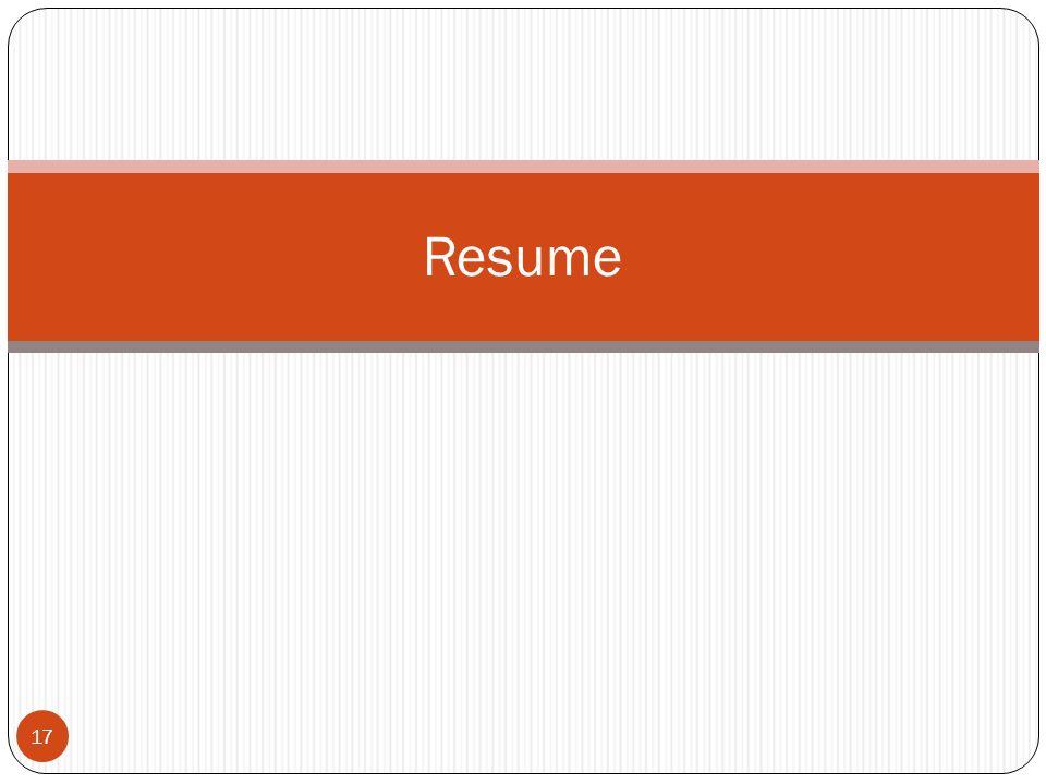 17 Resume