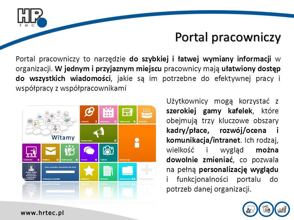 Portal pracowniczy Portal pracowniczy to narzędzie do szybkiej i łatwej wymiany informacji w organizacji.