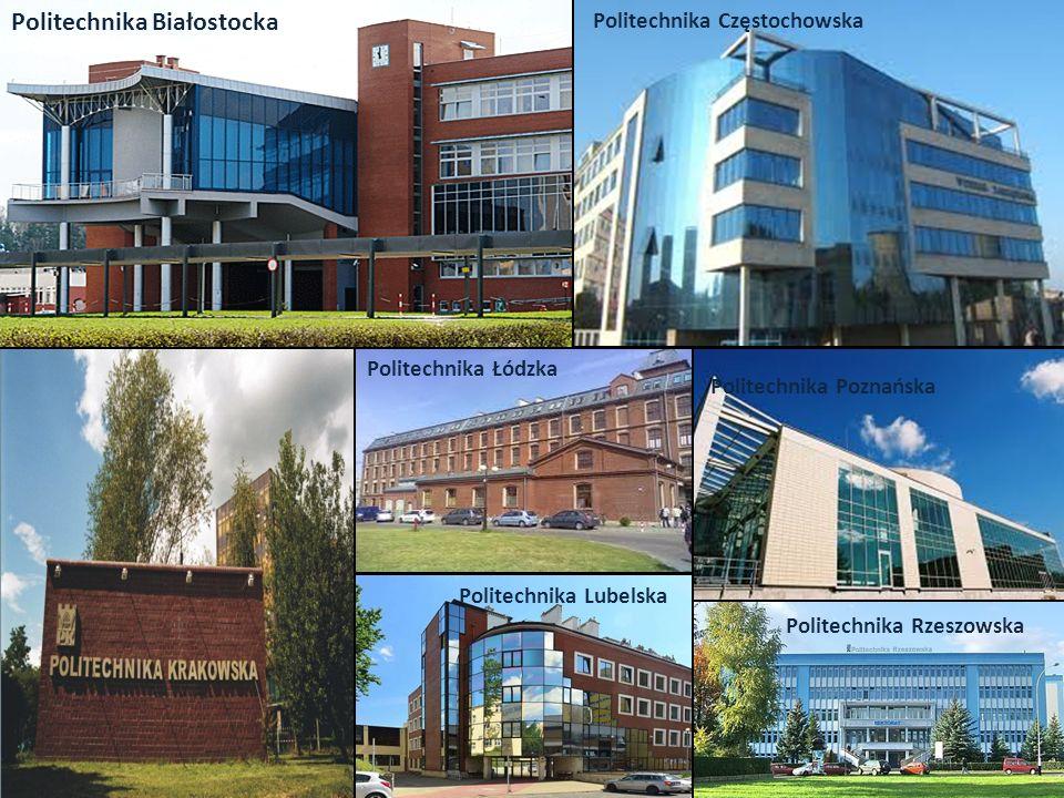 Politechnika Rzeszowska Politechnika Białostocka Politechnika Częstochowska Politechnika Lubelska Politechnika Łódzka Politechnika Poznańska
