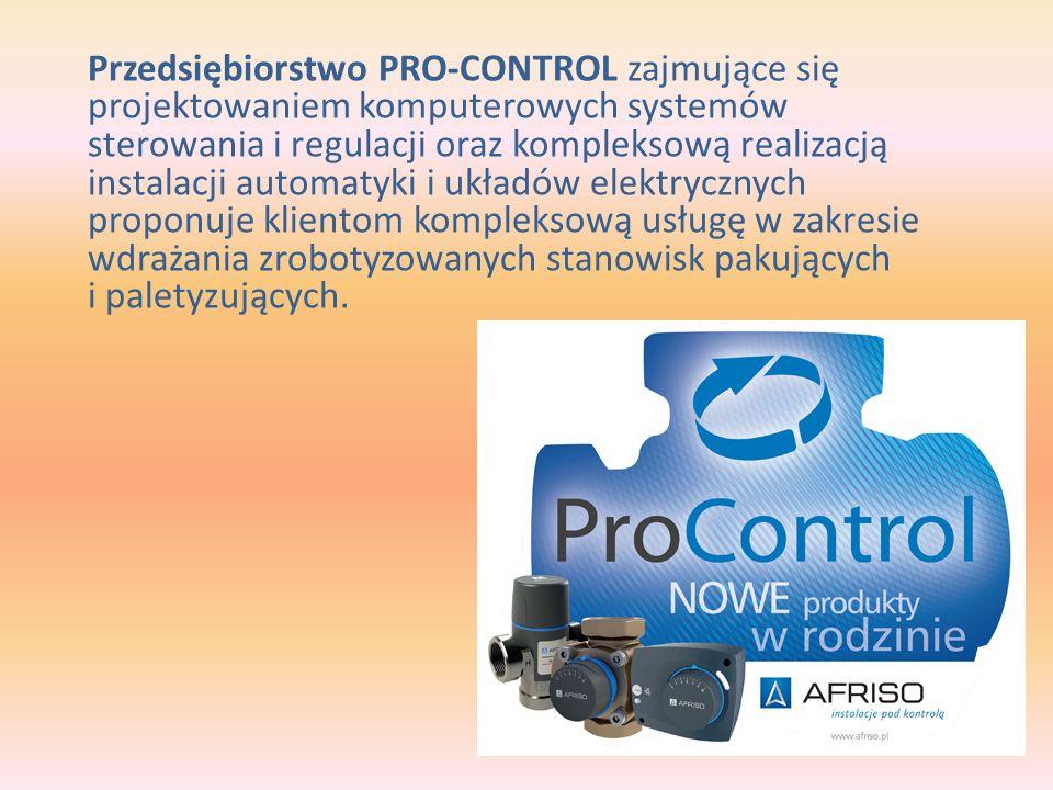 Przedsiębiorstwo PRO-CONTROL zajmujące się projektowaniem komputerowych systemów sterowania i regulacji oraz kompleksową realizacją instalacji automatyki i układów elektrycznych proponuje klientom kompleksową usługę w zakresie wdrażania zrobotyzowanych stanowisk pakujących i paletyzujących.