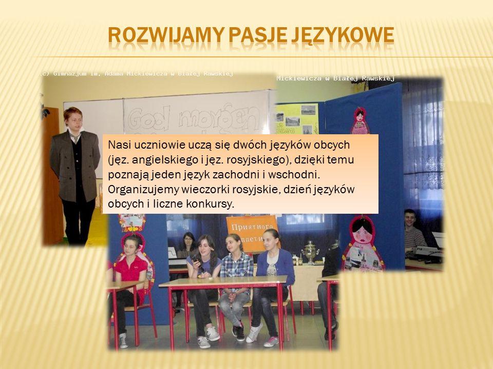 Nasi uczniowie uczą się dwóch języków obcych (jęz.