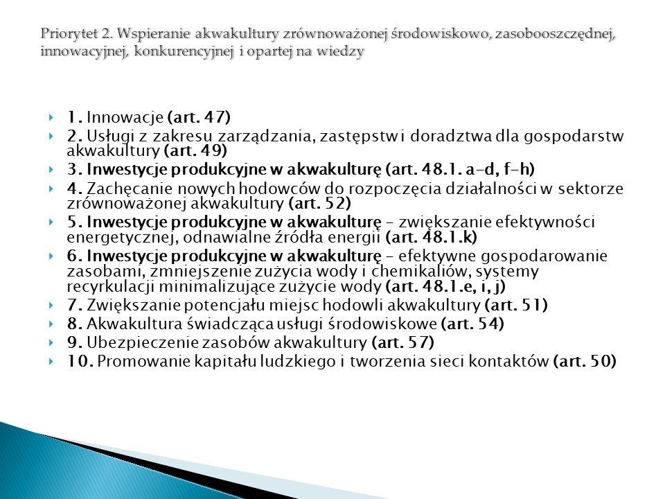  1. Innowacje (art. 47)  2.