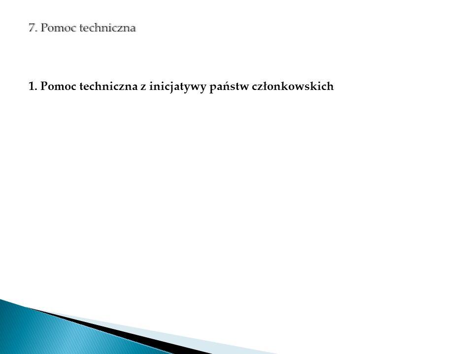 1. Pomoc techniczna z inicjatywy państw członkowskich