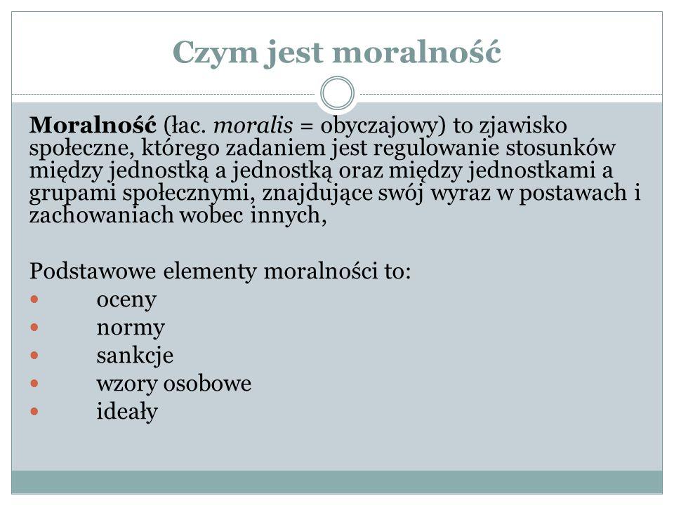 Czym jest moralność Moralność (łac.