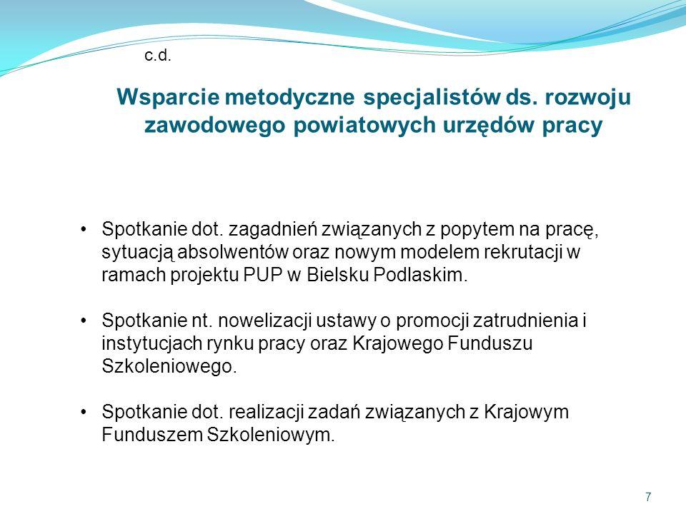 7 c.d. Wsparcie metodyczne specjalistów ds.