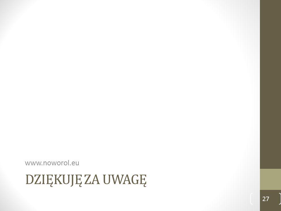 DZIĘKUJĘ ZA UWAGĘ www.noworol.eu 27