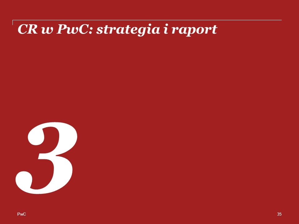 PwC CR w PwC: strategia i raport 3 35