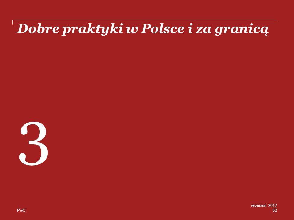 PwC Dobre praktyki w Polsce i za granicą 52 wrzesień 2012 3