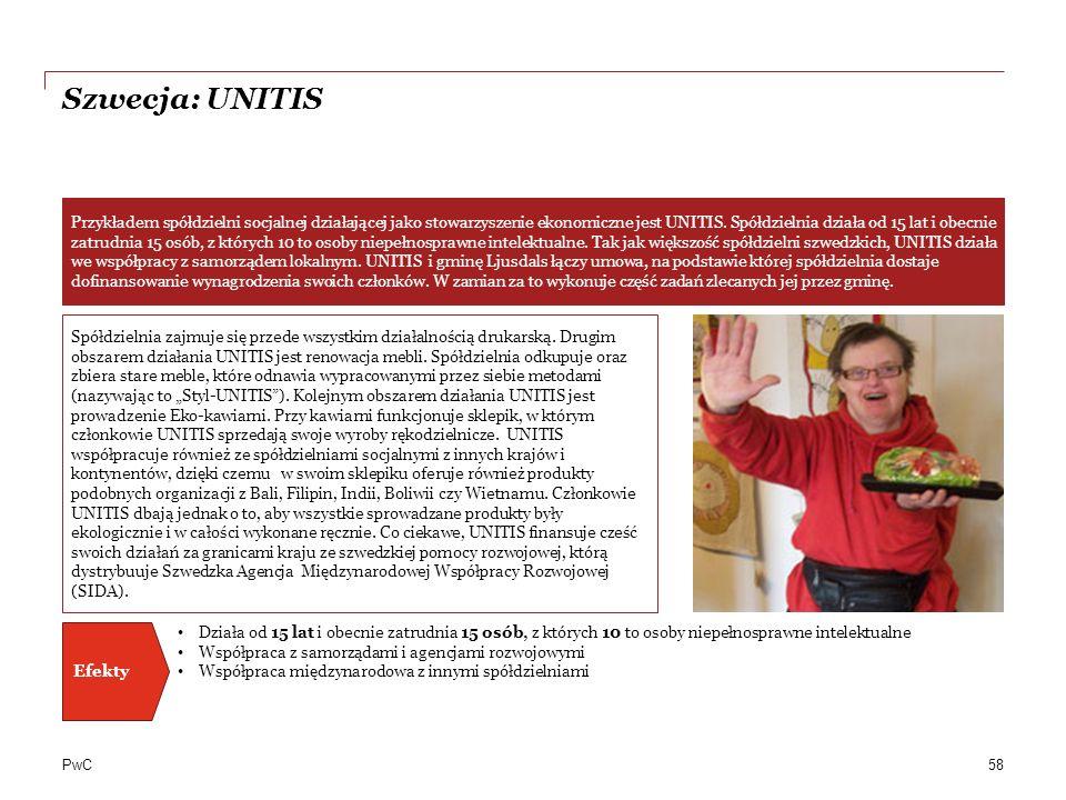 PwC Szwecja: UNITIS 58 Spółdzielnia zajmuje się przede wszystkim działalnością drukarską.