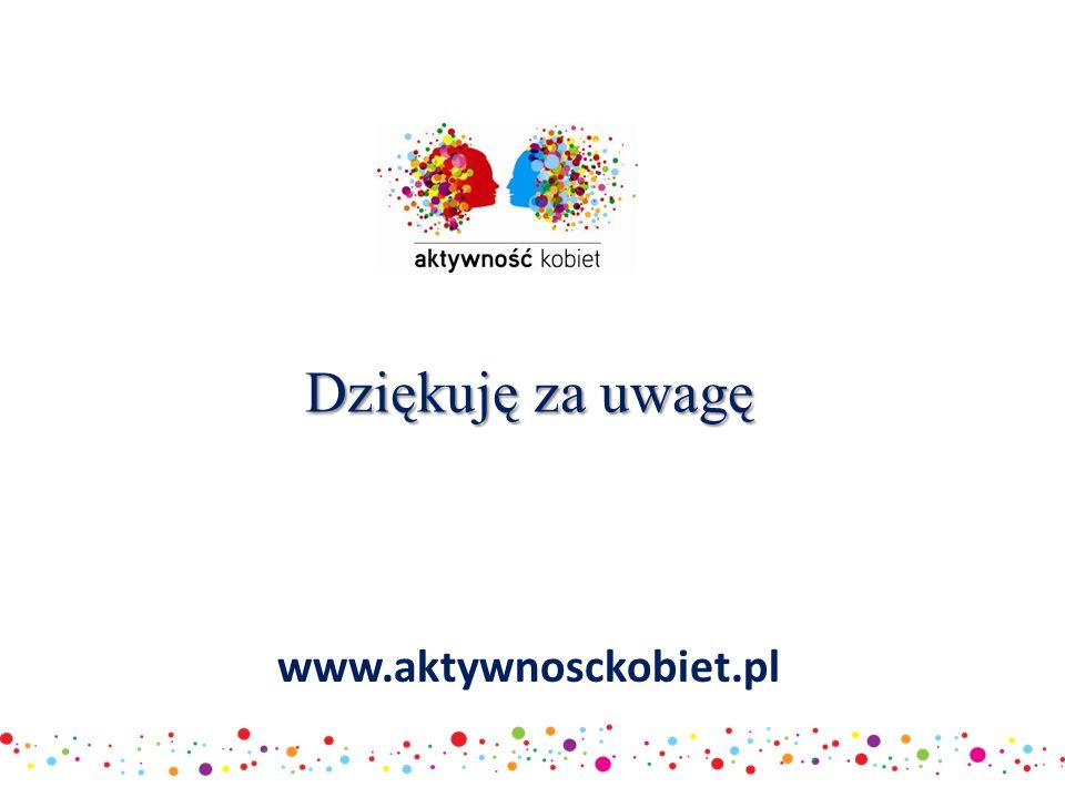 www.aktywnosckobiet.pl Dziękuję za uwagę