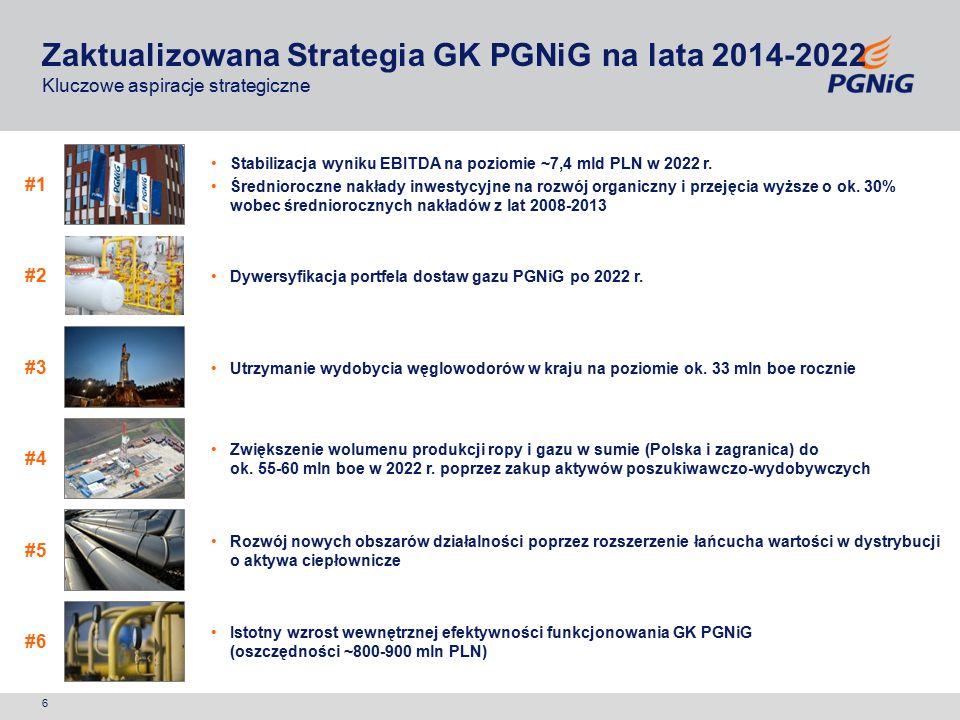6 Stabilizacja wyniku EBITDA na poziomie ~7,4 mld PLN w 2022 r.