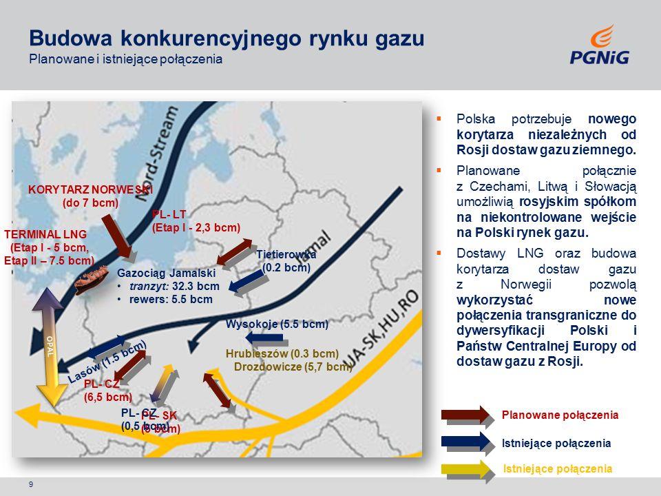9  Polska potrzebuje nowego korytarza niezależnych od Rosji dostaw gazu ziemnego.