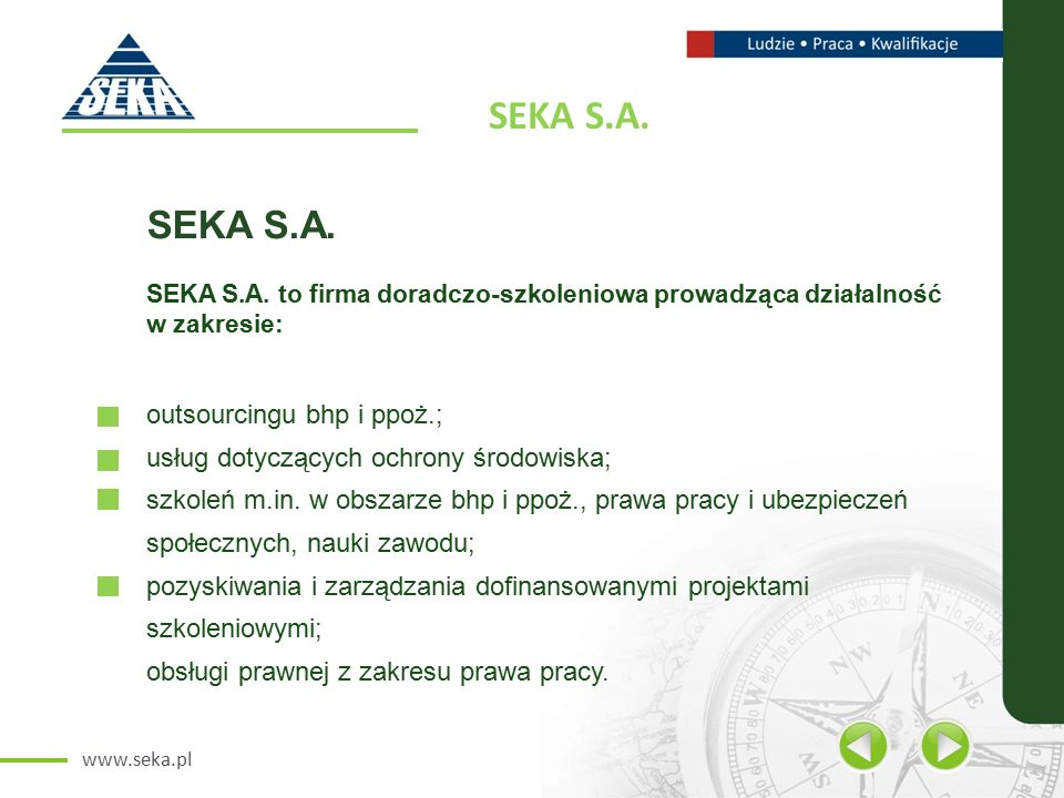 www.seka.pl SEKA S.A. SEKA S.A.