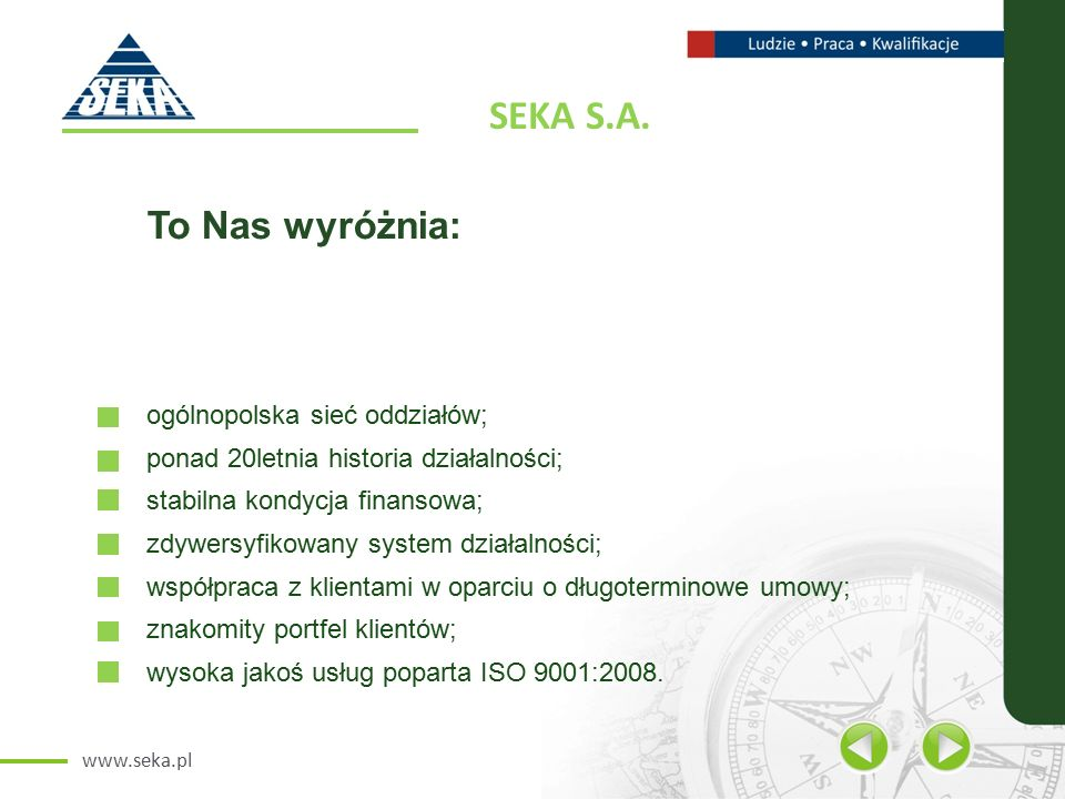 www.seka.pl SEKA S.A.