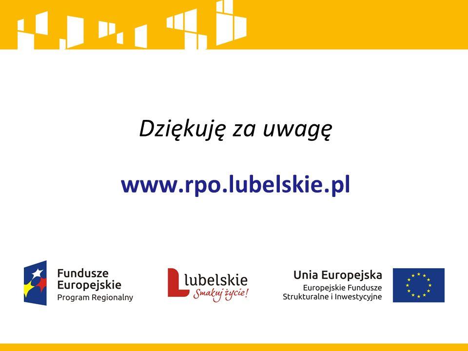 Dziękuję za uwagę www.rpo.lubelskie.pl