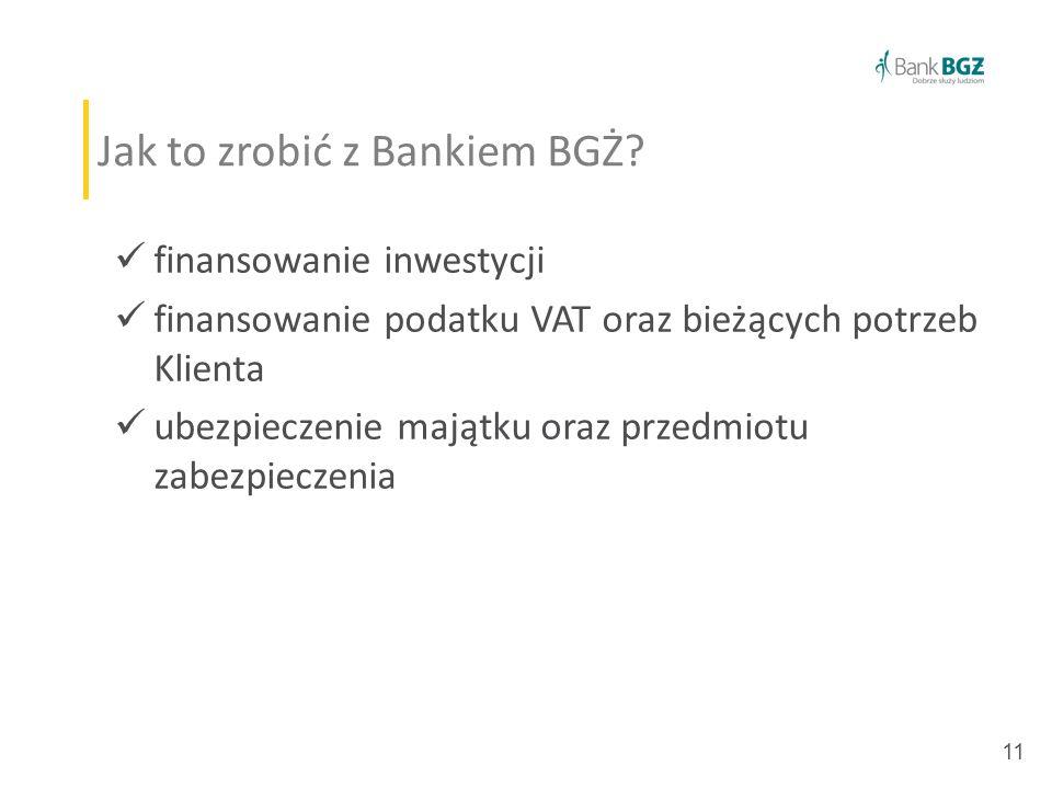 11 Jak to zrobić z Bankiem BGŻ.