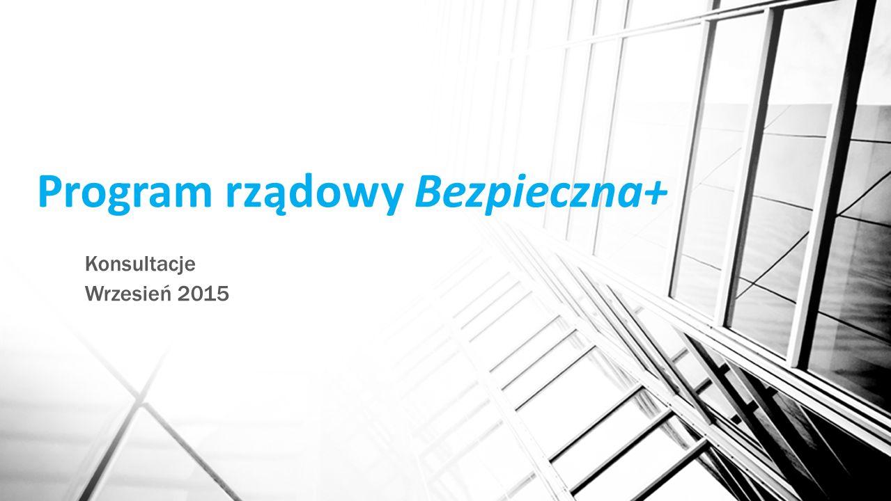 Konsultacje Wrzesień 2015 Program rządowy Bezpieczna+